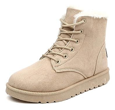 a7153495be5c2 AARDIMI Neue Heiße Frauen Stiefel Schnee Warme Winterstiefel Lace Up Pelz  Stiefeletten Damen Winterschuhe Frauen Schuhe