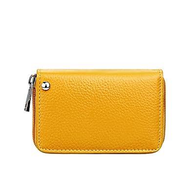 Amazon.com: Marroty Genuine Leather Grain Womens Zipper ...