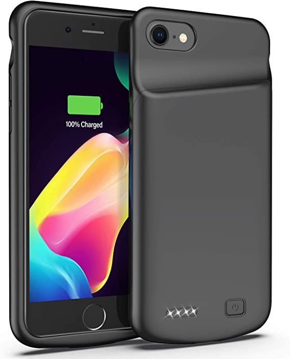 Black Smiphee Battery Case for iPhone 6 6s Extended Battery Charger Case 4.7 inch 4500mAh Portable Protective/Charging Case Compatible with iPhone 6 6s