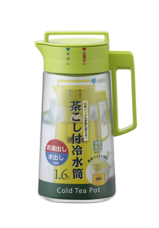 Asvel VIO Water Cooler D-162T, Cold Tea Pot (1.6L) (2 Pieces)