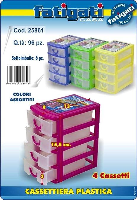 Cassettiere Plastica Per Minuterie.Cassettiera In Plastica Porta Minuteria Con 4 Cassetti Per La Casa