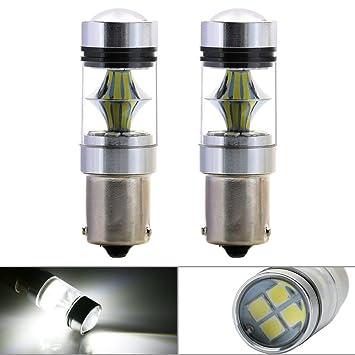2x 21 SMD 1156 BA15s BAY15d PY21W BAU15s LED Sidelight Tail Reverse Backup Light