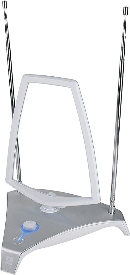 One For All SV9365, Antena de TV para Interior Amplificada, Recibe TDT en un rango de 25km, Antena HDTV Digital, Incluye Cable Coaxial de Alto ...