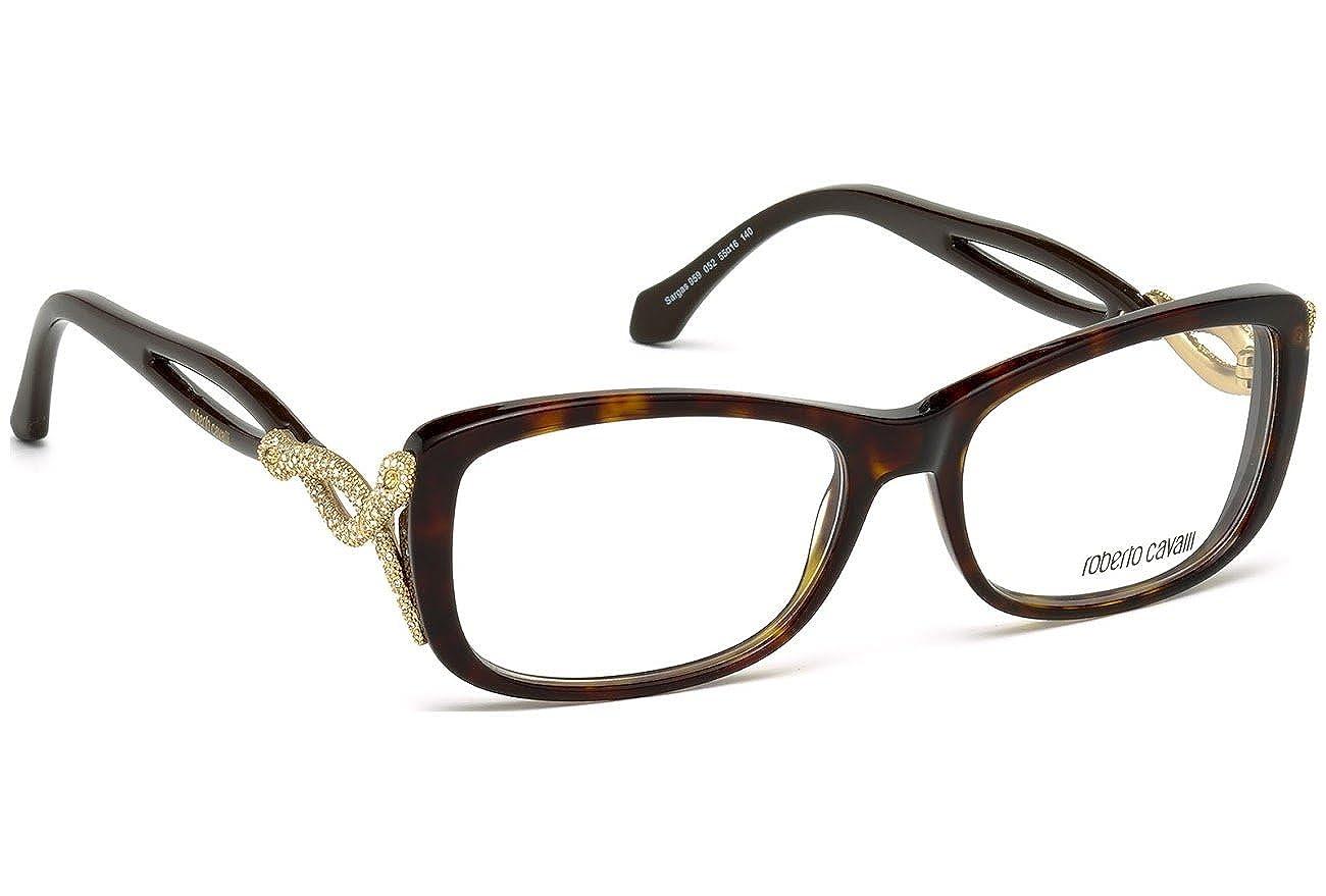 a7c2e6c6bee Eyeglasses Roberto Cavalli Sargas RC 959 RC0959 052 dark havana at Amazon  Men s Clothing store
