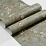 LCTCBZ 3D garden wallpaper, wooden contact paper decoration, kitchen countertop furniture is a refurbished family dormitory for rent (Color : E)