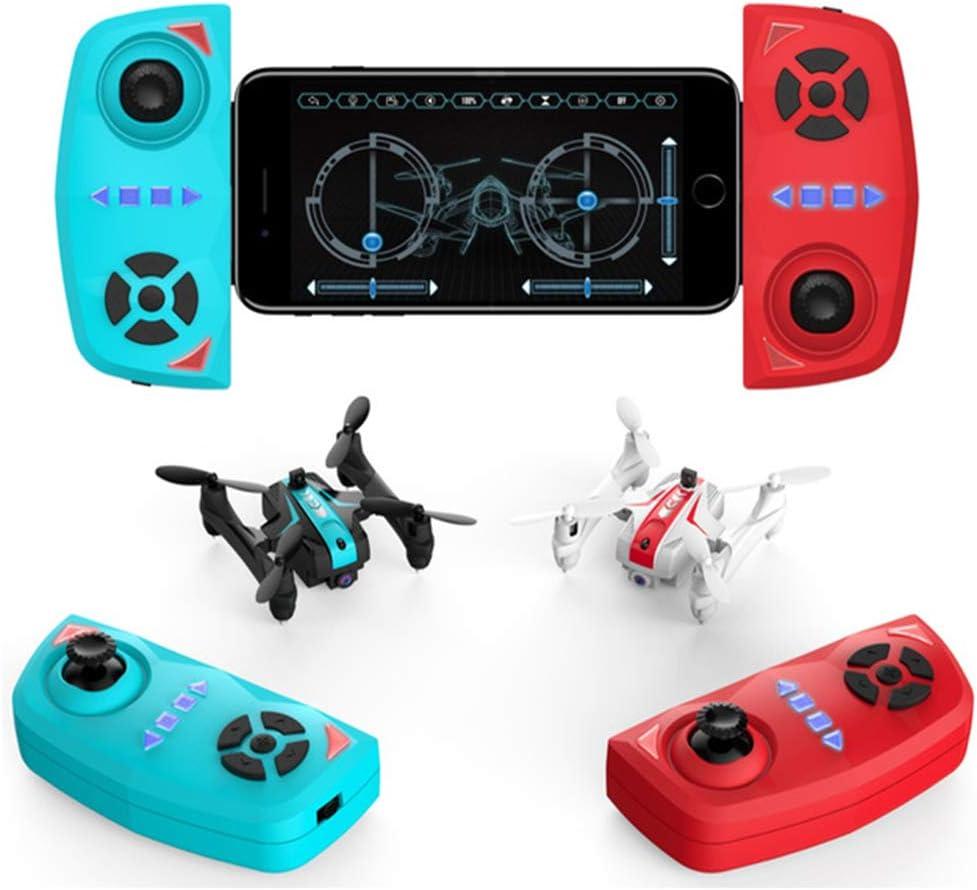 Izzya Drone Plegable Mini Cuadricóptero de Batalla por Infrarrojos de Alta Resolución Control Remoto de Aire Modelo de Avión Drones para Niños y Niñas