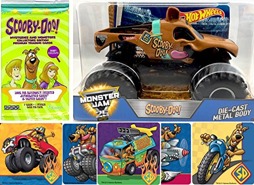 AYB Products Dog Hot Wheels Monster Jam Scooby-Doo Character Truck Vehicle with Mystery Trading Cards + Bonus Stickers 25th Anniversary - Scooby Doo Mystery Machine Sticker