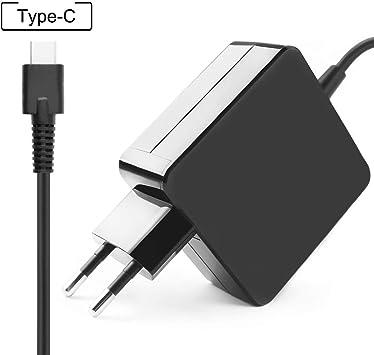 TOOGOO Adaptador De Corriente del Cargador USB-C De 65W, Cargador ...