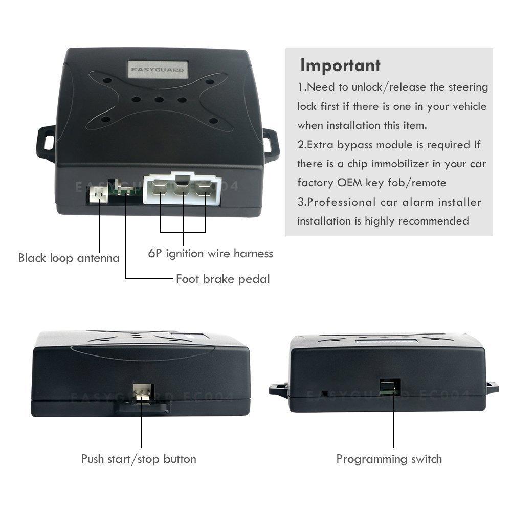 Teepao Car Smart Key Rfid Alarm System Push Engine Loop Wire Harness Electronics