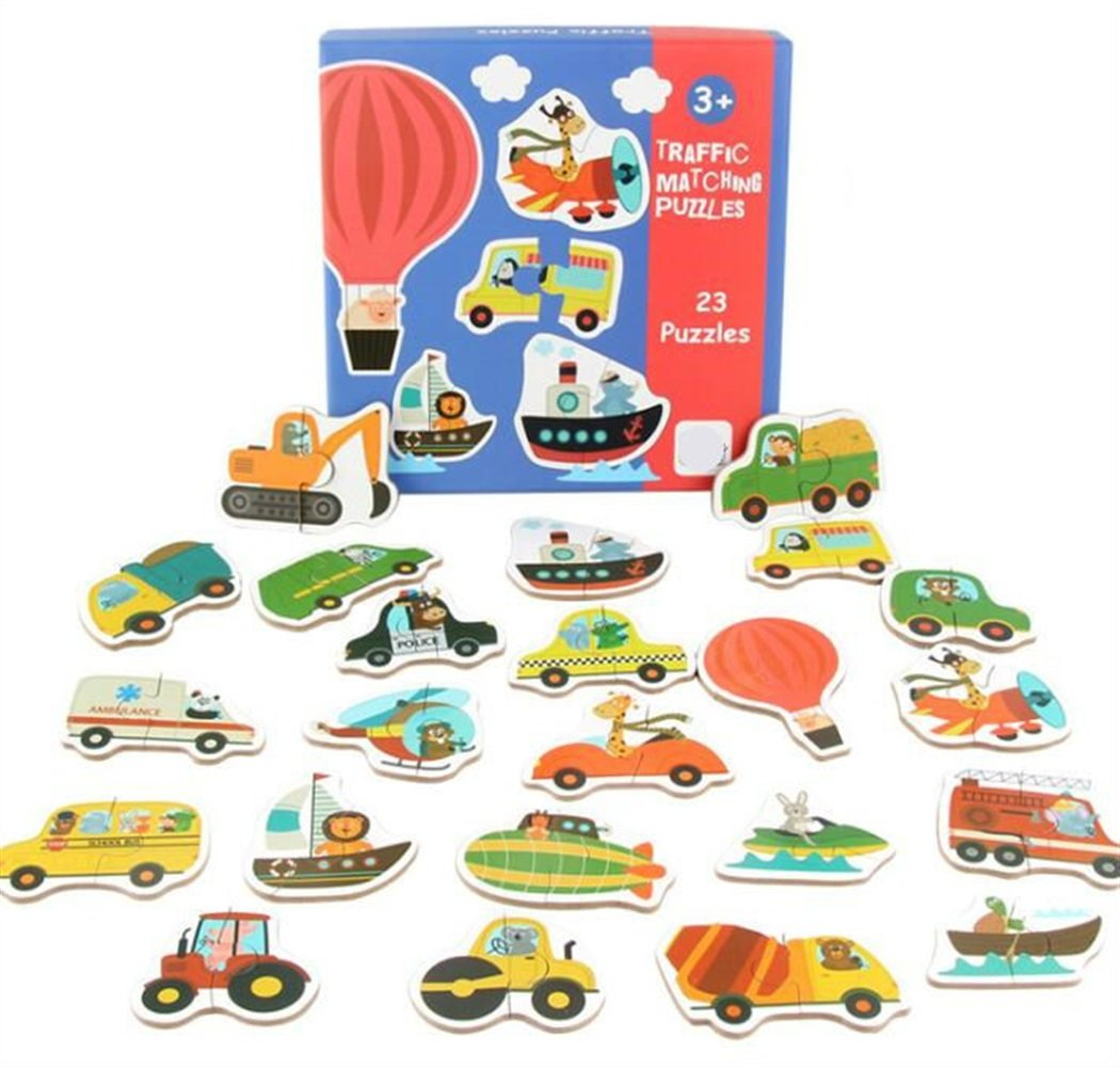 YChoice Educational Puzzle Kids Cute Wooden Peg Puzzle Education Learning Toy Fantastic Gifts Kids(Transportation)