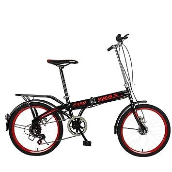 XQ F380 Bicicleta Plegable Negra Ultraligero Portátil 16/20 Pulgadas Bicicleta Infantil De Una Velocidad