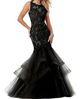 Ellenhouse Womens Applique Tulle Long Mermaid Prom Party Evening Dresses EL189
