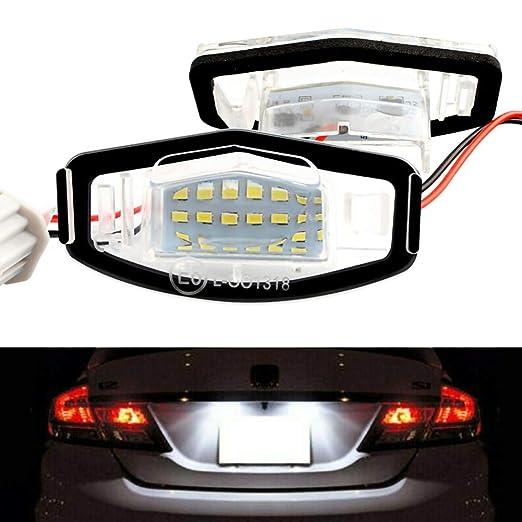 omufipw 18 Luces de matrícula LED Número de Bombillas de lámpara ...