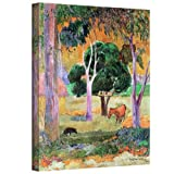 Paul Gauguin 'Dominican Landscape' gallery-wrapped canvas is a high-quality canvas print that uses simplified images and bold colors to capture a rural, tropical landscape. It is the intersection of country charm and post-impressionism. Eugene Henri ...