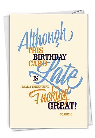 Amazon.com: Tarjeta de felicitación de cumpleaños con sobre ...