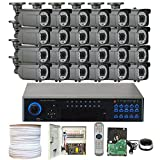 GWSecurity 32CH400WHD 32 Channel DVR + 24 x 1000TVL (720P) Vari-Focal Zoom 147 feet IR Outdoor / Indoor Security Camera System with Pre-Installed 4TB Hard Drive