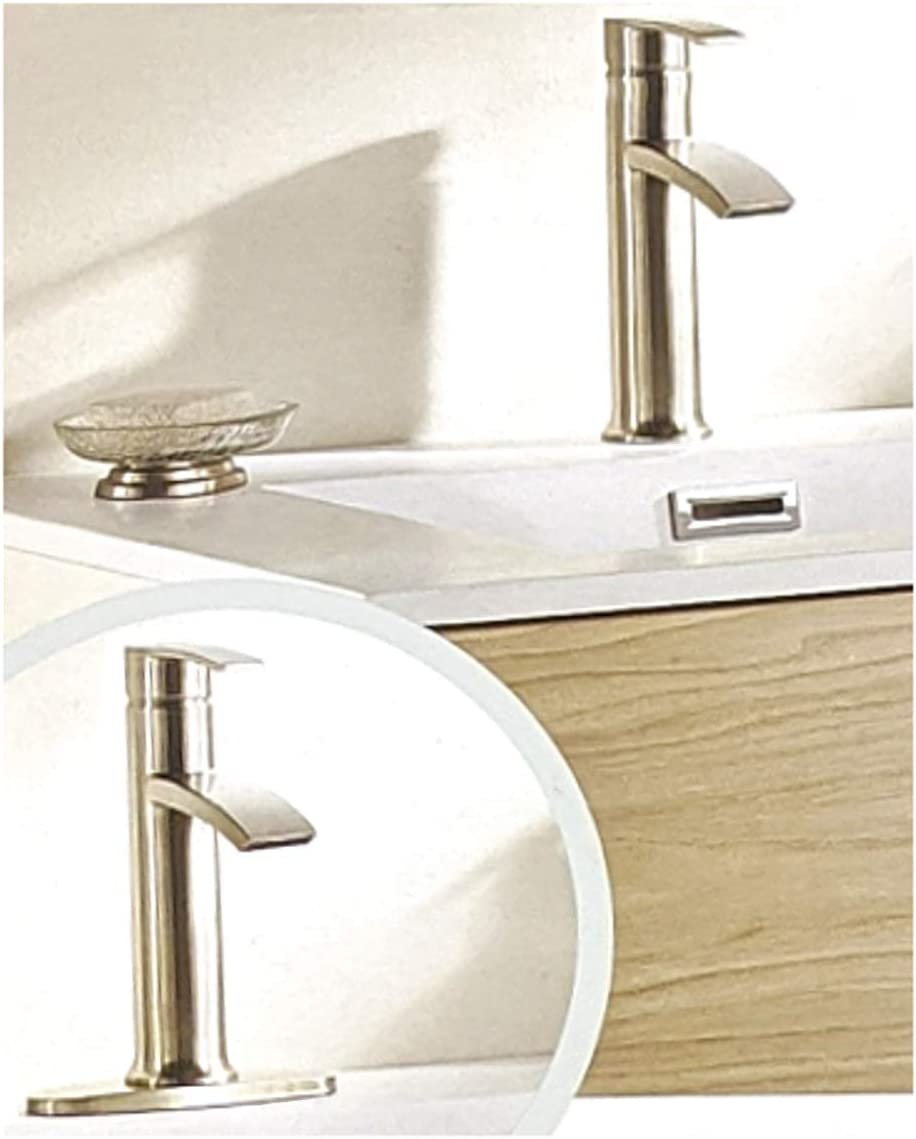 Giagni Sorizio Brushed Nickel 1-handle Bathroom Sink Faucet with Drain - -