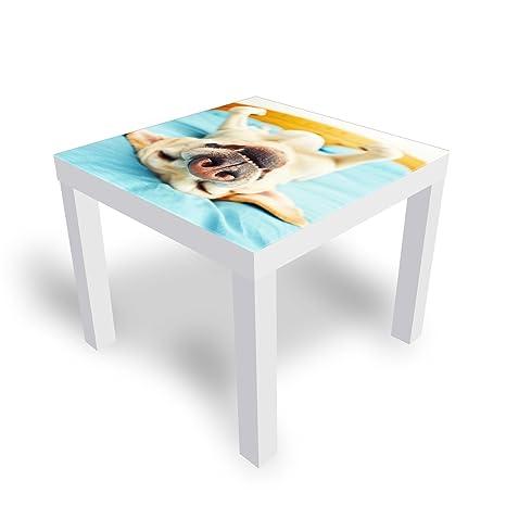 Ikea Table D Appoint.Dekoglas Table D Appoint Decorative Ikea En Verre Laque