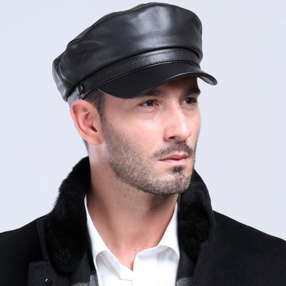 VEMOLLA Cappello da Uomo in Pelle di Pecora Berretto Golf Baseball Cadetto  Militare Newsboy  Amazon.it  Abbigliamento 95e4927d087c