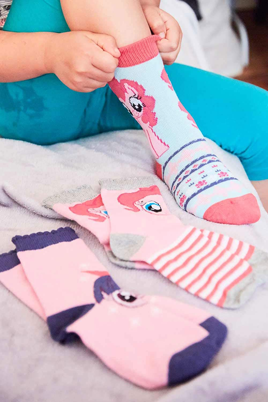 Rarity und Pinkie Pie f/ür M/ädchen Motiv-Socken mit Twilight Sparkle MLP My Little Pony Pferde bunte Rainbow Dash pink, lila, wei/ß, t/ürkis