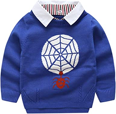 Vinnytido Autumn Sweater for Boy Tiny Cottons Letter Lapel Sweater Baby Cardigan
