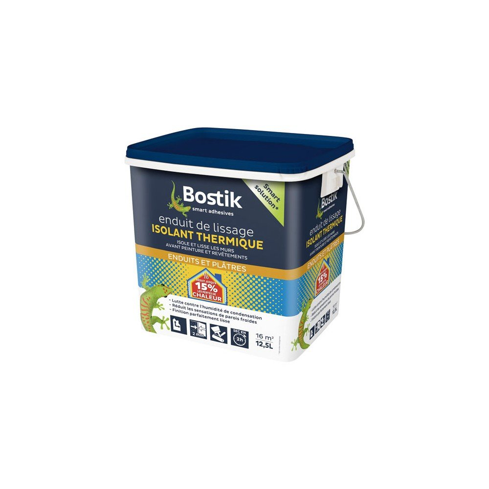 Bostik Enduit De Lissage Isolant Thermique Seau De 12 5l Amazon