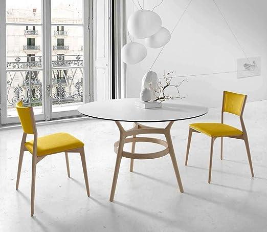 CH Design - Mesas de Comedor Modernas - Mesa Redonda Leger Roble ...