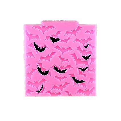 Molde cuadrado de silicona para tartas de Dylandy, para Halloween, molde para fondant,