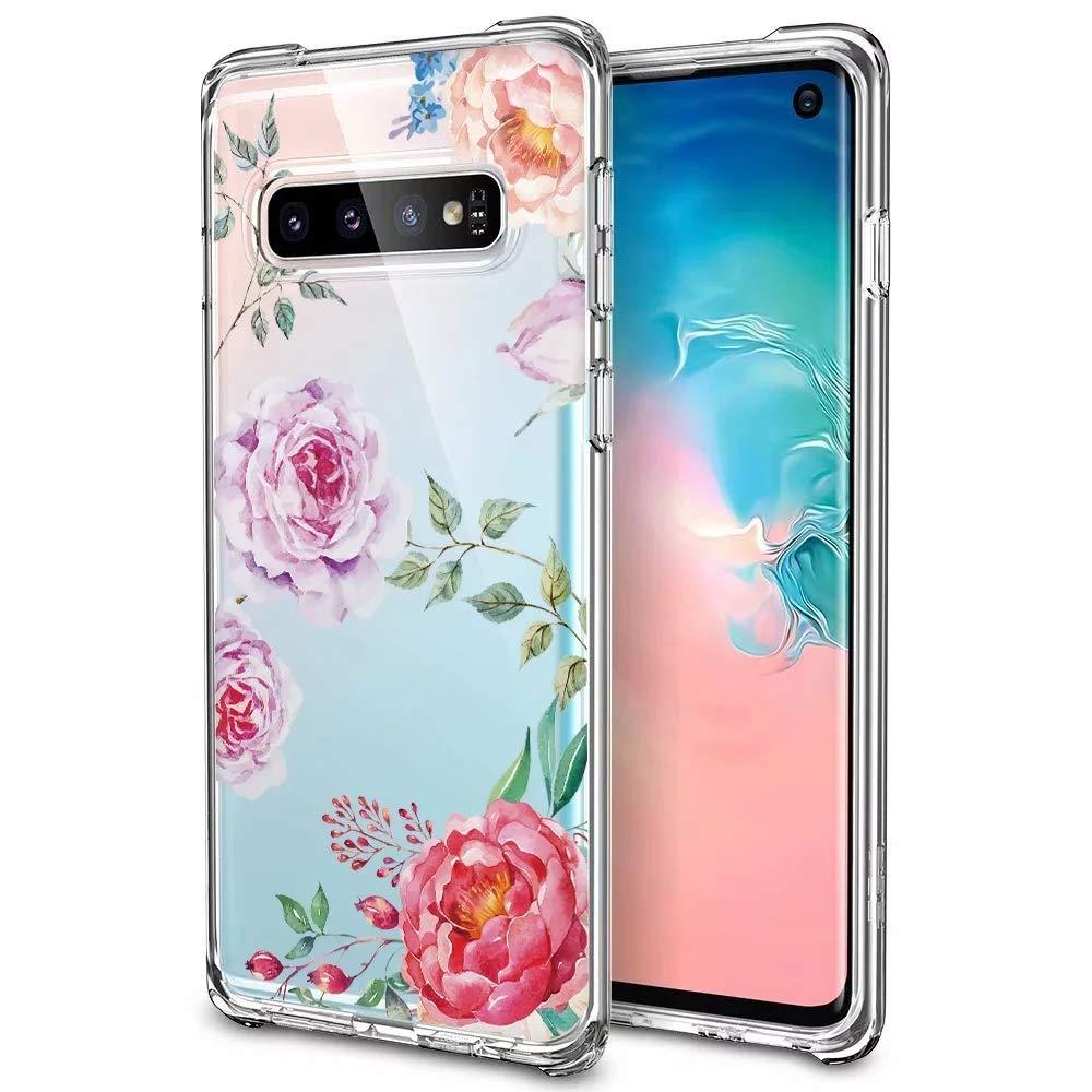Huphant kompatibel mit Samsung Galaxy S10 h/ülle Silikon Transparent d/ünn Muster 8 Anti-Gelb Samsung Galaxy S10 Case Silikon handyh/ülle Mit Bumper Anti-Scratch