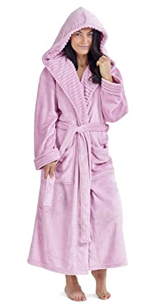afc638ec56930 CityComfort Ladies Dressing Gown Fluffy Super Soft Hooded Bathrobe for Women  Plush Fleece Perfect Loungewear Long
