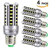 100 watt corn cob led - HUIERLAI 4-Pack 9W Super Bright LED Corn Bulb For Residential and Commercial Projec E26/E27 (60-75 W Incandescent Bulb ) 1080Lm AC85-265V White(6000K) Non-Dimmable.