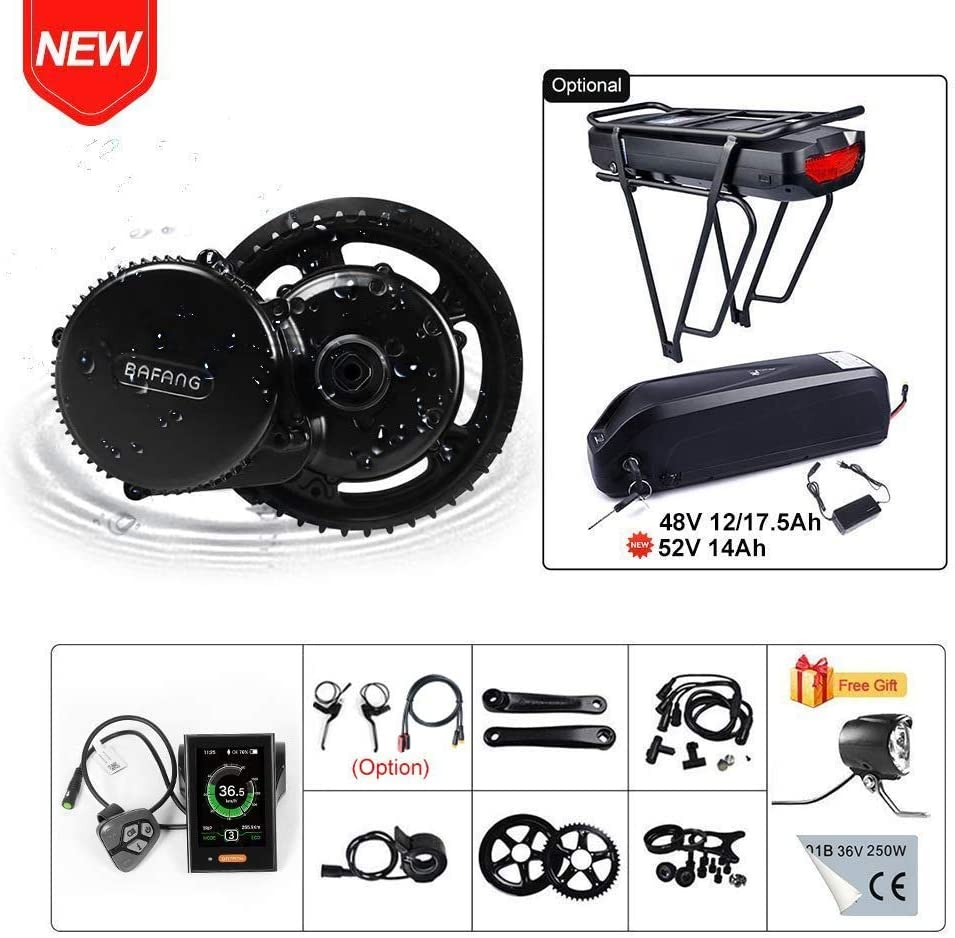 BAFANG BBS02B 48V 750W Ebike Motor Mid Drive Electric Bike Conversion Kit with Battery Optional