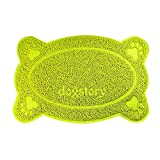 ORMIA Quality Cat Litter Collection Pad, Easy to Clean, Soft Sensitive Kitty Claw Toilet Anti-slip Mat (green, bone)
