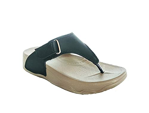057a70c12908 Zerol Welcome Pure Leather Women Fashion Slippers   Flip Flops wowhf13  black4