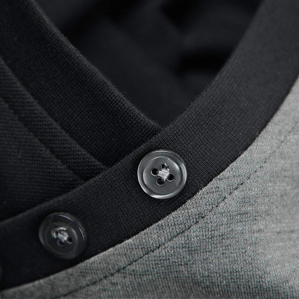 CLOOM Uomo Nuova Moda Collare in Piedi Uomo Manica Lunga T-Shirt Pure Camicetta Camicetta Uomo Elegante Maglietta