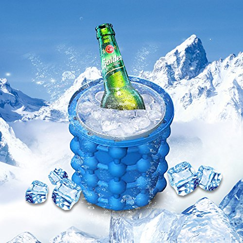 Ice Genie Ice Maker Silicone Silicone Ice Bucket Ice Cube Maker Genie Ice Cube Trays Silicone Mold Ice Bucket Saving Ice Cube Maker