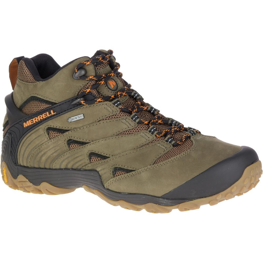 Merrell Mens Chameleon 7 Gore-Tex Waterproof Mid Hiking Walking Boots 13|Dusty Olive