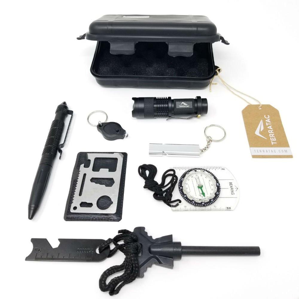 88e1bc5dd017 Amazon.com: TERRATAC Emergency 8-in-1 Waterproof EDC Survival Kit ...