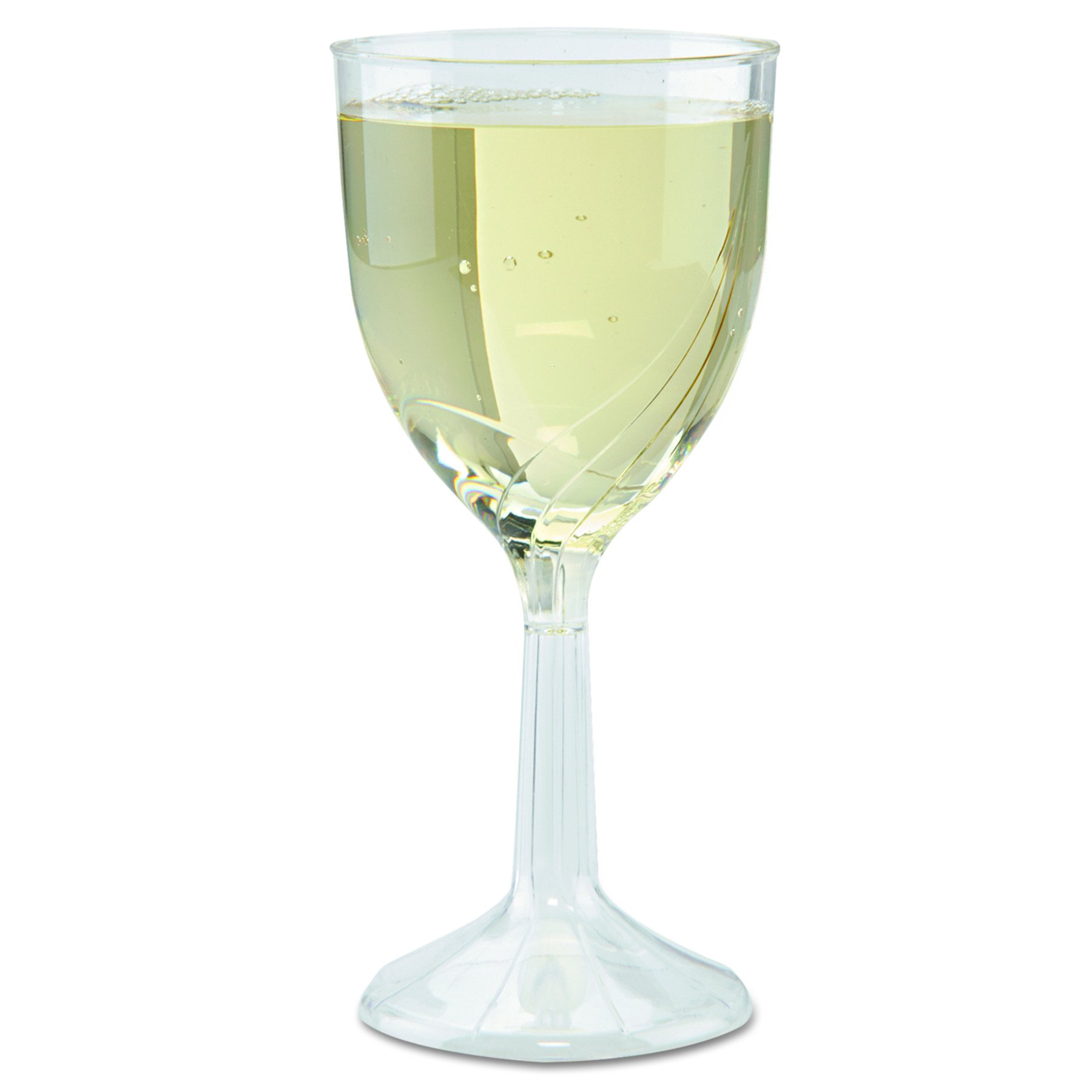 WNA CWSWN6 Classicware One-Piece Wine Glasses, 8 oz, Clear, (6 Wine Glasses)