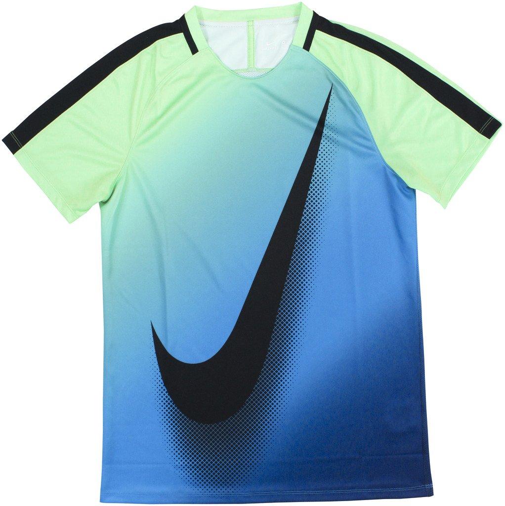 Nike m nk Dry sqd top ss x - Electro Grün lt Photo Blau bl