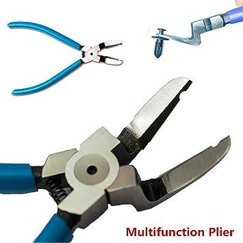 Multifunción coche Recorte Clip Remaches de extractor de cortador diagonal Alicates extractor Kit de herramientas para