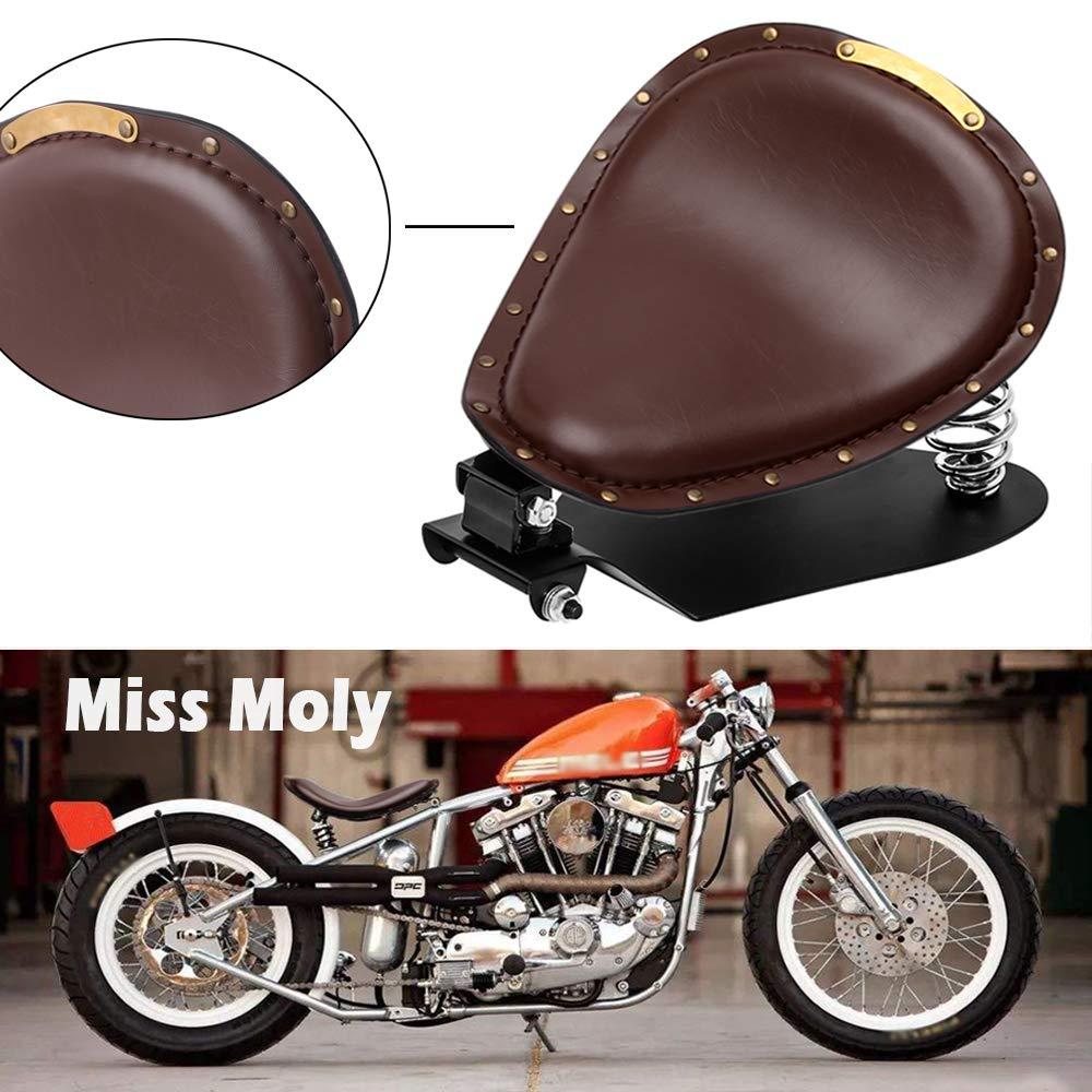Marrone-1 Sella Bobber per Motocicletta Crocodile Sedile Moto per Sportster XL1200 883 48 Dyna Softail Fatboy Custom