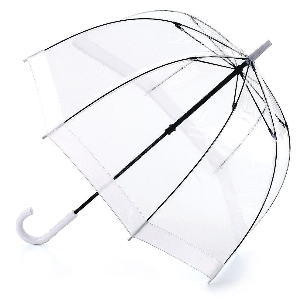Paraguas con borde blanco