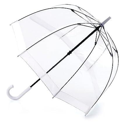 Fulton Birdcage-1 clara paraguas cúpula con borde blanca: Amazon.es: Jardín