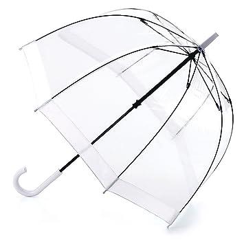 Fulton Birdcage-1 clara paraguas cúpula con borde blanca