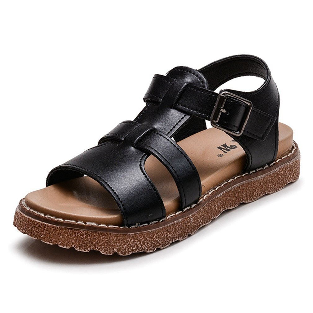 Toddler//Little Kid//Big Kid CYBLING Girls Summer Outdoor Casual Sandals T-Strap Open Toe Flat Shoes