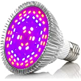 40W LED Grow Light Bulb, Asiur Full Spectrum Plant Growing Lights for Indoor Plants Vegetable Greenhouse Hydroponic (E26/E27)