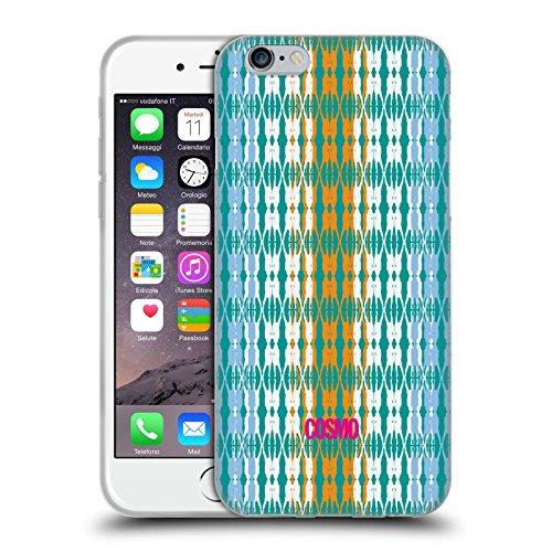 Official Cosmopolitan Blue Green Boho Patterns Soft Gel Case for Apple iPhone 6 / 6s
