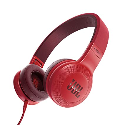 6cf7c41bf95 Amazon.com: JBL E35 Red On-Ear Headphones - 1 Button Remote w/ Microphone:  Home Audio & Theater