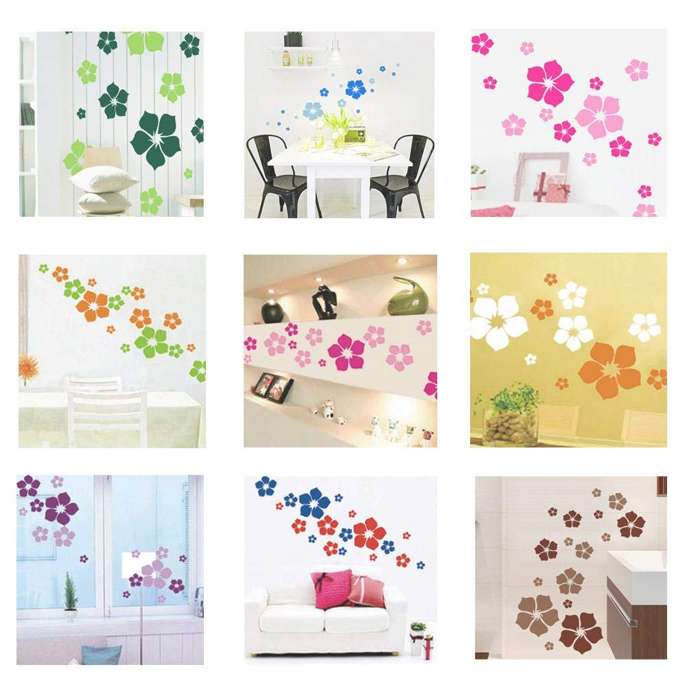 Amazon.com: Chitop Removable Beautiful Flowers Wall Sticker - Children Living Room Bedroom Decor Environmental Protection DIY Wall Stickers (Red): Home & ...